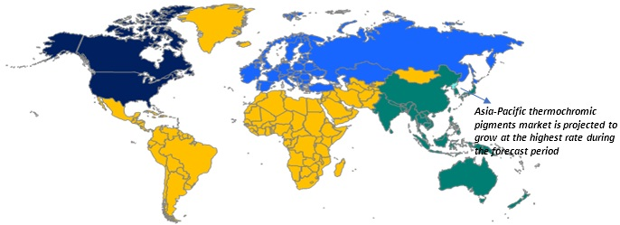 Global Thermochromic Pigment Market Revenue, by Region, 2017